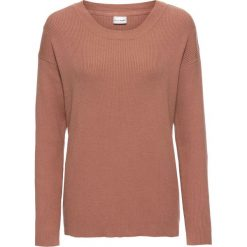 Sweter bonprix stary różowy. Czerwone swetry klasyczne damskie bonprix, z okrągłym kołnierzem. Za 74,99 zł.