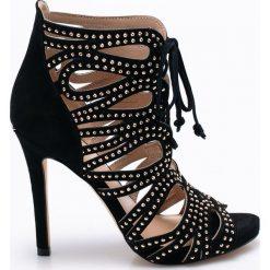 Liu Jo - Sandały. Czarne sandały damskie marki Liu Jo, z materiału, na obcasie. W wyprzedaży za 569,90 zł.