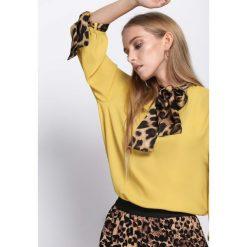 Żółta Bluzka Set The Place. Fioletowe bluzki longsleeves marki bonprix, z materiału. Za 69,99 zł.