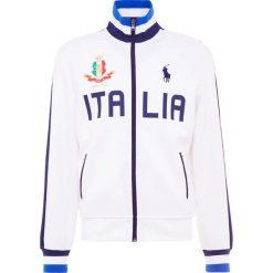 Polo Ralph Lauren DOUBLE TECH Bluza rozpinana white/navy. Białe kardigany męskie Polo Ralph Lauren, m, z bawełny. Za 629,00 zł.