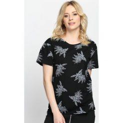 Bluzki damskie: Czarny T-shirt Like A Dragonfly