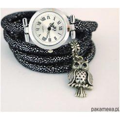 Zegarek, bransoletka - Sowa - owijany. Szare bransoletki damskie na nogę marki Pakamera. Za 95,00 zł.