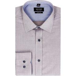 Koszula bexley 2451 długi rękaw slim fit brąz. Brązowe koszule męskie jeansowe marki Recman, m, z aplikacjami, z klasycznym kołnierzykiem, z długim rękawem. Za 129,00 zł.