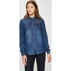 Vila - Koszula Bista. Szare koszule wiązane damskie Vila, l, z bawełny, casualowe, z klasycznym kołnierzykiem, z długim rękawem. W wyprzedaży za 149,90 zł.