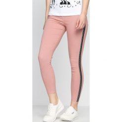 Spodnie damskie: Różowe Jegginsy All Way