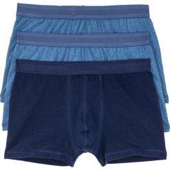 Bokserki (3 pary) bonprix niebieski melanż - ciemnoniebieski. Niebieskie bokserki męskie bonprix, melanż. Za 26,97 zł.