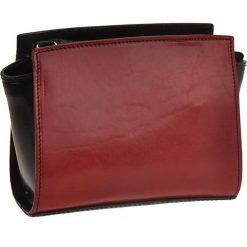 Torebki klasyczne damskie: Skórzana torebka w kolorze czerwonym – 18 x 14 x 6 cm