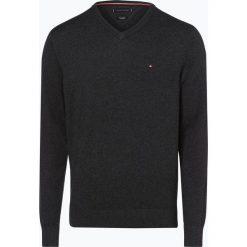 Tommy Hilfiger - Sweter męski z dodatkiem kaszmiru, szary. Czarne swetry klasyczne męskie marki TOMMY HILFIGER, l, z dzianiny. Za 449,95 zł.