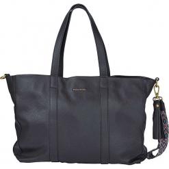 """Skórzany shopper bag """"Skylar"""" w kolorze czarnym - 53 x 38 x 14 cm. Czarne shopper bag damskie Marc O'Polo, z materiału, na ramię. W wyprzedaży za 864,95 zł."""
