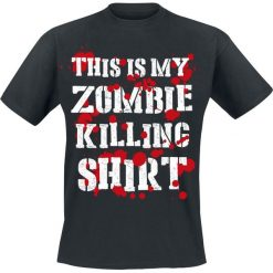 This Is My Zombie Killing Shirt T-Shirt czarny. Czarne t-shirty męskie This Is My Zombie Killing Shirt, xl. Za 54,90 zł.