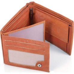 PORTFEL MĘSKI DARGELIS W PUDEŁKU NA PREZENT. Brązowe portfele męskie Dargelis, ze skóry. Za 49,00 zł.