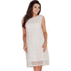 Sukienki hiszpanki: Sukienka w kolorze beżowopudrowym