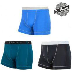 Bokserki męskie: Sensor Bokserki Męskie Coolmax Fresh 3-Pack Czarne/Szafirowe/Niebieskie S