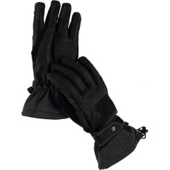 """Rękawiczki męskie: Skórzane rękawiczki narciarskie """"Express"""" w kolorze czarnym"""