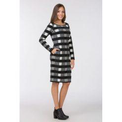 Sukienki: Jesienna sukienka w kratę