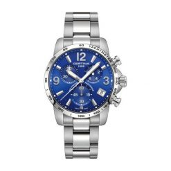 PROMOCJA ZEGAREK CERTINA DS Podium Chrono Precidrive C034.417.11.04. Niebieskie zegarki męskie CERTINA, ze stali. W wyprzedaży za 1795,20 zł.