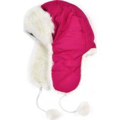 Czapka damska Uszanka Snow queen różowo-biała. Białe czapki zimowe damskie Art of Polo. Za 37,60 zł.