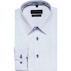 Koszula MICHELE KDBE000350. Białe koszule męskie na spinki marki bonprix, z klasycznym kołnierzykiem. Za 169,00 zł.