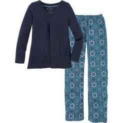 Piżama bonprix ciemnoniebieski wzorzysty. Niebieskie piżamy damskie marki QUECHUA, z elastanu. Za 79,99 zł.