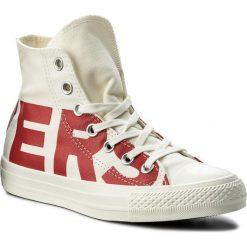 Trampki CONVERSE - Ctas Hi 159532C Natural/Enamel Red/Egret. Brązowe trampki męskie Converse, z gumy. W wyprzedaży za 219,00 zł.