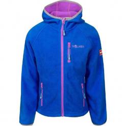 """Kurtka polarowa """"Borgund"""" w kolorze niebiesko-różowym. Czerwone kurtki dziewczęce marki Trollkids, z polaru. W wyprzedaży za 95,95 zł."""