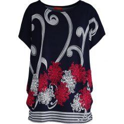 T-shirty damskie: Granatowy T-shirt Elder