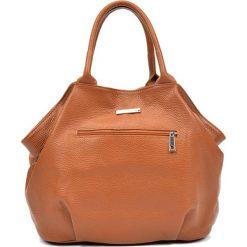 Torebki klasyczne damskie: Skórzana torebka w kolorze jasnobrązowym – (S)30 x (W)37 x (G)13 cm