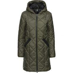 Płaszcz pikowany dwukolorowy bonprix ciemnooliwkowo-czarny. Zielone płaszcze damskie bonprix. Za 149,99 zł.