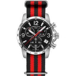 RABAT ZEGAREK CERTINA DS PODIUM C034.417.18.057.00. Czarne zegarki męskie CERTINA, ze stali. W wyprzedaży za 1575,20 zł.