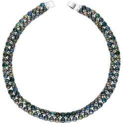 Naszyjniki damskie: Naszyjnik w kolorze tahiti z pereł – dł. 40 cm