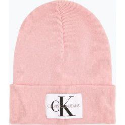 Calvin Klein Jeans - Czapka damska z dodatkiem kaszmiru, różowy. Szare czapki damskie marki Calvin Klein Jeans, na zimę, z jeansu. Za 179,95 zł.