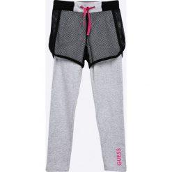 Guess Jeans - Legginsy dziecięce 118-175 cm. Szare legginsy dziewczęce Guess Jeans, z bawełny. Za 159,90 zł.