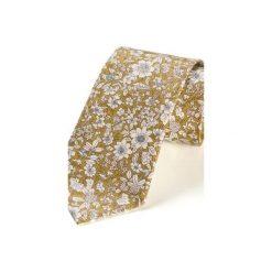 Krawat męski ROTA MUSZTARDOWY. Żółte krawaty męskie HisOutfit, z materiału. Za 129,00 zł.