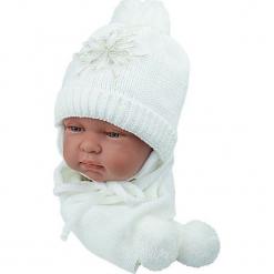 Czapka niemowlęca z szalikiem CZ+S 001B. Szare czapeczki niemowlęce Proman. Za 38,76 zł.
