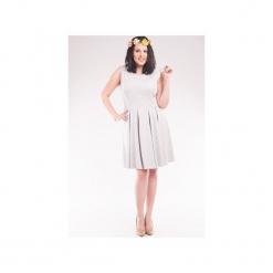 Sukienka z dresówki bez rękawów SL2156SP Size Plus. Czarne sukienki dresowe marki Soleil, na imprezę, s, w kolorowe wzory, z długim rękawem, mini, dopasowane. Za 130,00 zł.