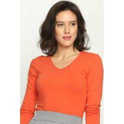 Bluzki damskie: Pomarańczowa Bluzka Convenience