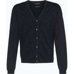 Finshley & Harding - Sweter męski – Pima-Cotton/Kaszmir, niebieski. Czarne swetry rozpinane męskie marki Finshley & Harding, w kratkę. Za 179,95 zł.