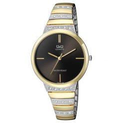 Zegarki damskie: Zegarek Q&Q Damski F553-402 Cyrkonie Biżuteryjny