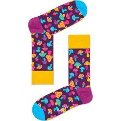 Happy Socks - Skarpety Shrooms. Pomarańczowe skarpetki męskie Happy Socks, z bawełny. W wyprzedaży za 29,90 zł.