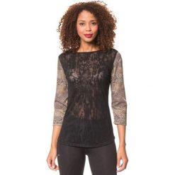 Koszulka w kolorze czarno-granatowym. Czarne bluzki sportowe damskie Desigual Sport, s, z długim rękawem. W wyprzedaży za 130,95 zł.