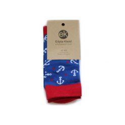 Skarpetki Anchor Style. Niebieskie skarpetki męskie Edyta kleist, z bawełny. Za 30,00 zł.