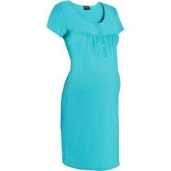 Koszula nocna ciążowa i do karmienia bonprix morski. Niebieskie bielizna ciążowa bonprix, z bawełny, moda ciążowa. Za 42,99 zł.