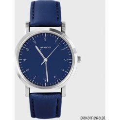 Zegarek - Simple Elegance - granatowy, skórzany. Niebieskie zegarki damskie Pakamera. Za 139,00 zł.