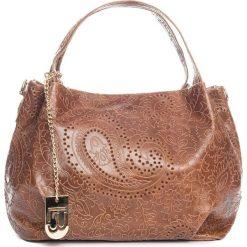 Torebki klasyczne damskie: Skórzana torebka w kolorze jasnobrązowym – 32 x 30 x 18 cm