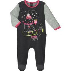 Śpiochy niemowlęce: Śpioszki w kolorze czarno-szarym