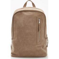 Torby i plecaki: Plecak z eko zamszu - Żółty