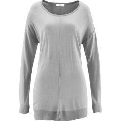 Swetry oversize damskie: Sweter oversize bonprix jasnoszary melanż