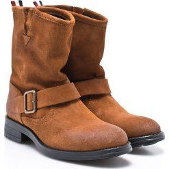 Hilfiger Denim - Botki. Brązowe buty zimowe damskie marki NEWFEEL, z gumy. W wyprzedaży za 319,90 zł.