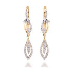 Kolczyki - , Diament 0,16ct. Białe kolczyki damskie W.KRUK, z brylantem, złote. Za 2790,00 zł.