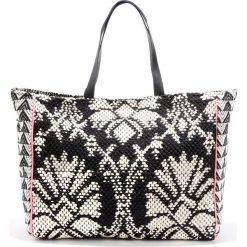 Shopper bag damskie: Torebka cabas z etnicznym motywem